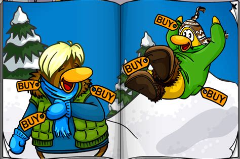 club penguin old clothes club penguin november clothing catalog dragonflyer s