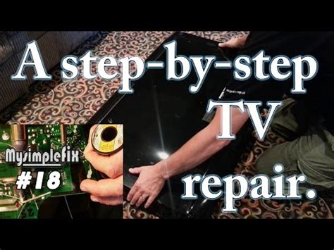 mitsubishi tv turns off with red light no start clicking repair 52 lcd hdtv doovi