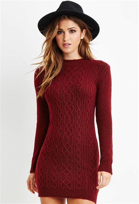 cable knit sweater dresses cable knit sweater dress from forever 21