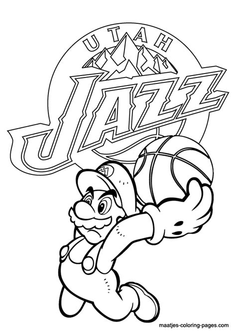 jazz free colouring pages