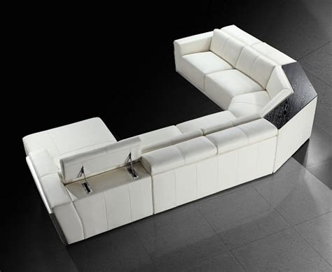 ebay white leather sofa tempo contemporary white leather sectional sofa ebay