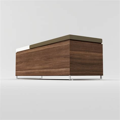 cognita storage bench 3d model blu cognita storage bench