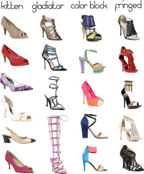 shoe dictionary the different types of heels she likes
