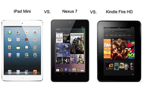 asus nexus 7 vs mini mini vs nexus 7 vs kindle hd compared