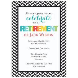 modern colorful retirement invitations paperstyle
