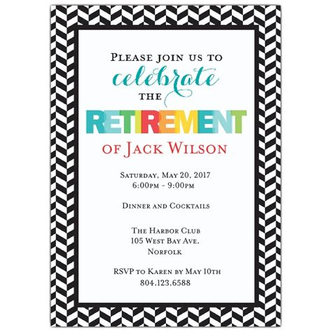 retirement lunch invitation template modern colorful retirement invitations paperstyle