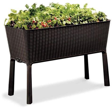 elevated garden bed raised planter vegetable herb flower