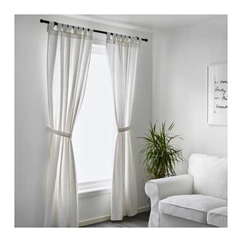 lenda curtains lenda curtains with tie backs 1 pair white 140x250 cm ikea