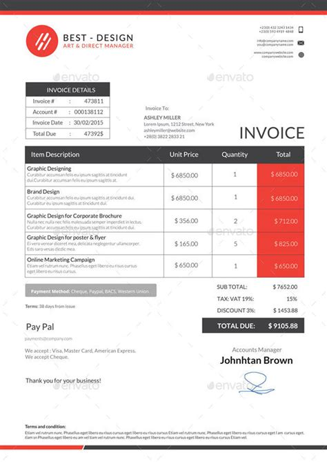 best invoice templates 15 best invoice templates to create your invoice