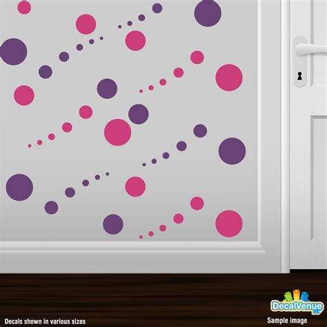 pink polka dot wall stickers pink and purple circle polka dot wall decal stickers dcr5781 19 97 decal rocket