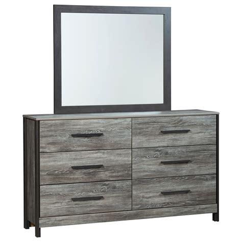 signature design  ashley cazenfeld modern rustic dresser bedroom mirror vandrie home