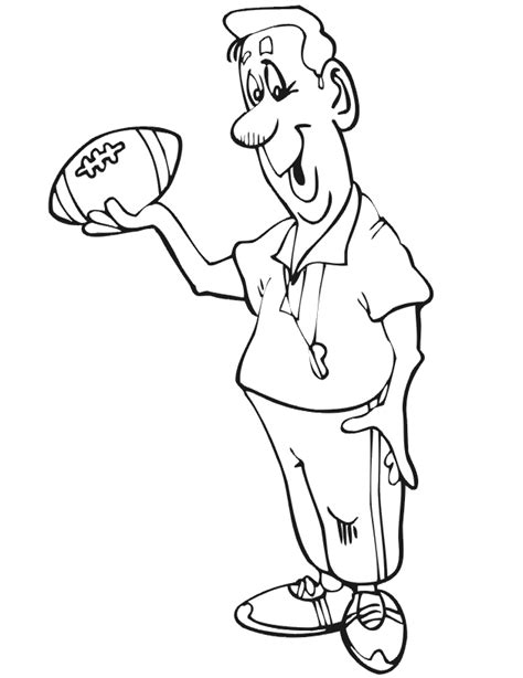 Football Coach Coloring Page | football printables