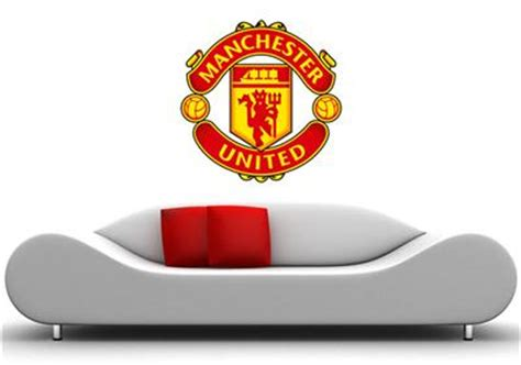 manchester united wall stickers manchester united wall sticker removable soccer decal 40 in quot football ebay