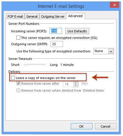 how to avoid prevent downloading duplicate emails in outlook