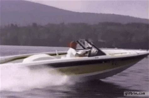 falling out of boat funny guy speeding gif find share on giphy