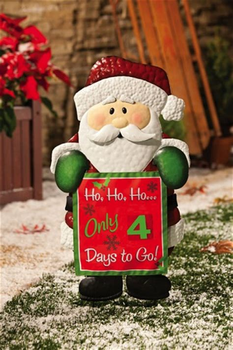 christmas countdown clock yard decoration santa claus metal countdown garden stake 489521 outdoor decoration ebay