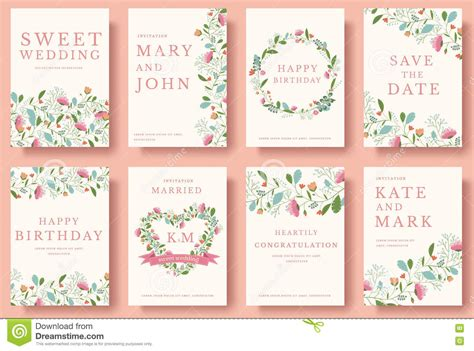 flower design wedding invitation set of flower invitation cards colorful greeting wedding