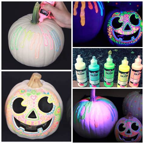 glow in the paint pumpkins amazing fall ideas you will adore