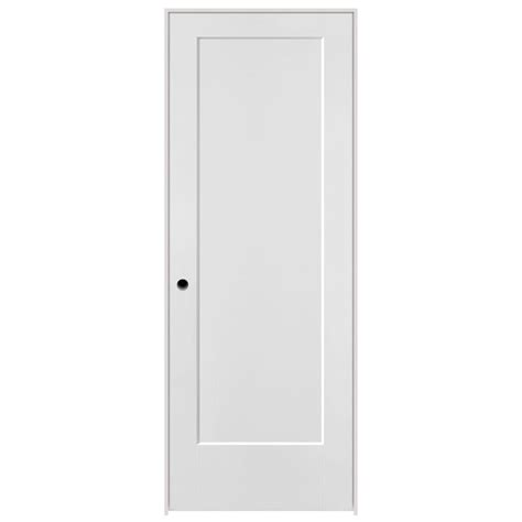 Masonite 32 In X 80 In Lincoln Park Primed 1 Panel Solid Masonite Prehung Interior Doors