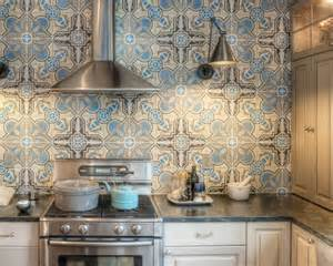 Moroccan Tile Backsplash by Beautiful Mediterranean Motif Tile For A Colorful Home