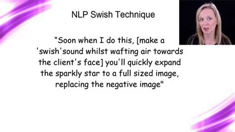 nlp swish pattern video the nlp swish technique youtube