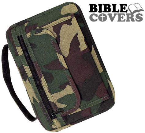 Camouflage Covers by Camouflage Holy Bible Cover Camo Army Green Book Tote