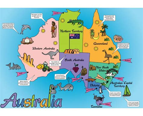 tourist map australia maps of australia detailed map of australia in
