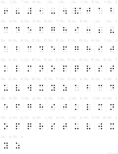 Free Braille Font Download free download - fanloading