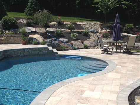 Swimming Pool Garten 566 by Pool With Boulder Retaining Wall Backyard Landscaping
