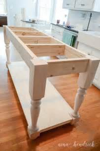 How To Make Kitchen Island by How To Build A Diy Furniture Style Kitchen Island Free Plans