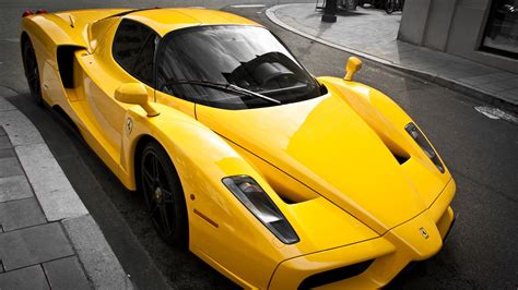 ferrari yellow car download wallpaper 1920x1080 ferrari enzo luxury yellow