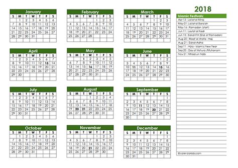 free 2018 muslim calendar to print up only 2018 islamic festivals calendar template free printable templates
