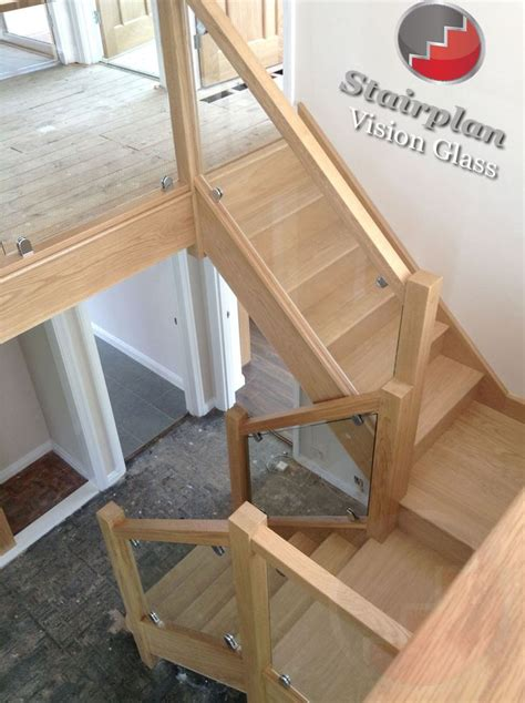 glass banister staircase oak staircase with vision glass balustrades don t like