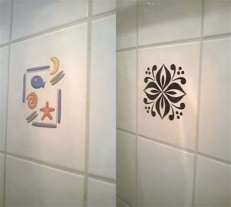 decals for bathroom tiles bathroom makeover part 1 bye bye fishy vintagemeetsglam