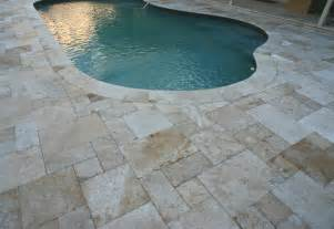 How To Get Grease Off Patio Stones Pool Deck Travertine From Orlando Brick Pavers Inc In
