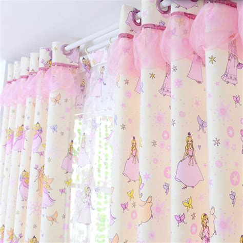 childrens curtains girls girls pink princess cartoon cotton half blackout kids