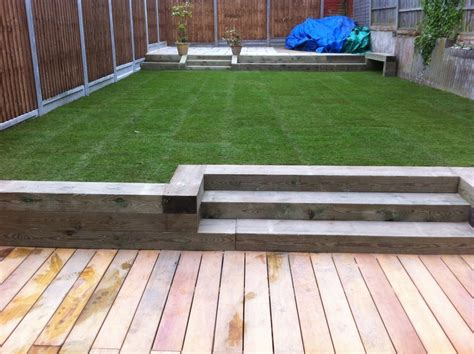 Composite Sleepers by Composite Decking With Sleeper Borders Search Landscape Indoor Planting Ideas