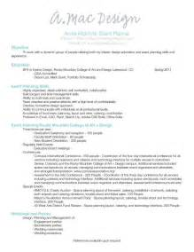 Planner Resume by Event Planner Resume Event Planning