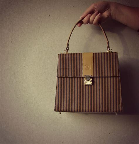 Fendi Guess Who Hiding The Vintage Fendi Designer Handbag by Authentic Vintage Fendi Handbag Fendi Striped Bag
