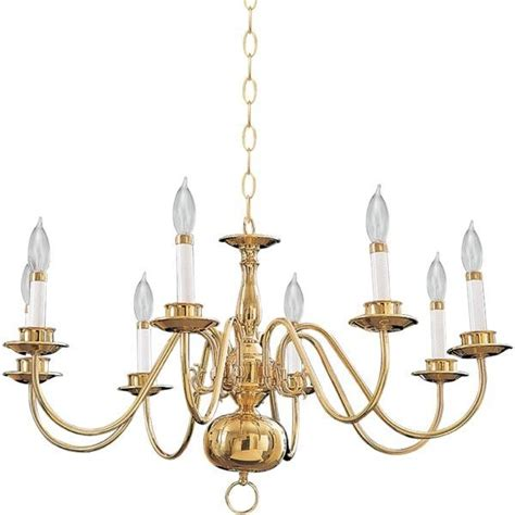 Lighting Chandeliers Traditional Eight Light Polished Brass Up Chandelier Traditional Chandeliers By We Got Lites