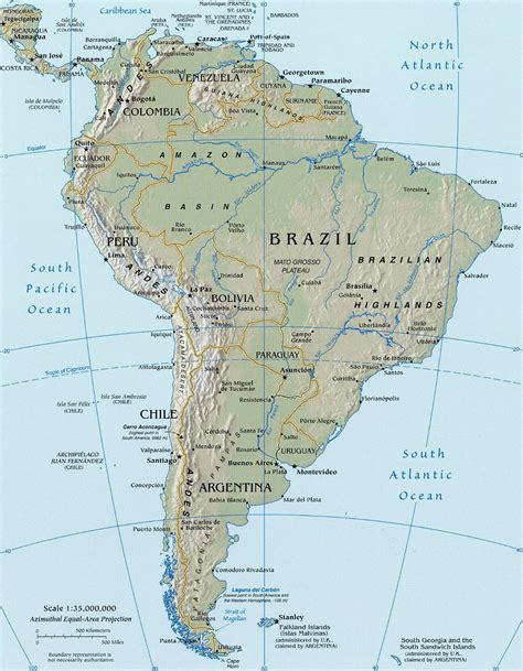 south america map rivers and mountains south america map