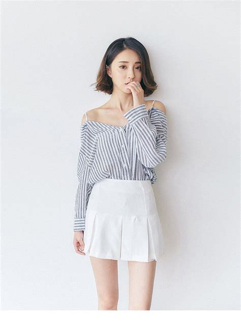 Korean Style Shirt korean fashion strapless shirt addoneclothing 1