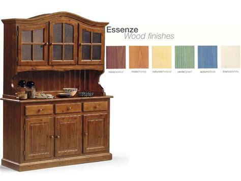 credenze rustiche legno credenza in legno con vetrinetta per cucina rustica