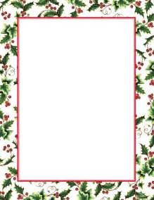 Holly ivy border christmas letterhead geographics 8 5x11 geographics
