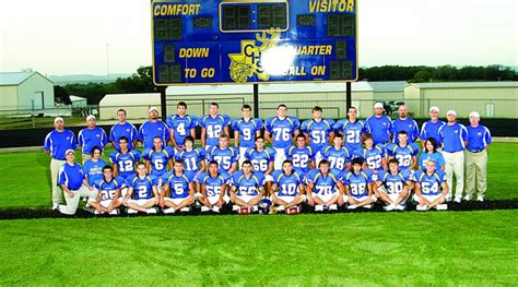 comfort team hill country football 2010 daily times home hill