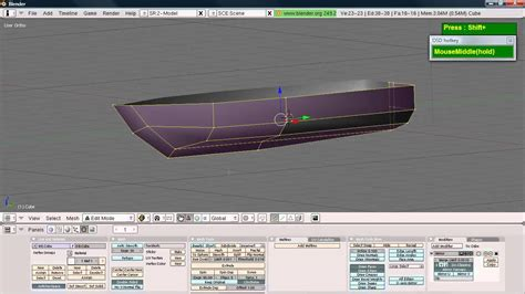How To Make A 3d Ship Out Of Paper - blender simple boat hull modeling tutorial