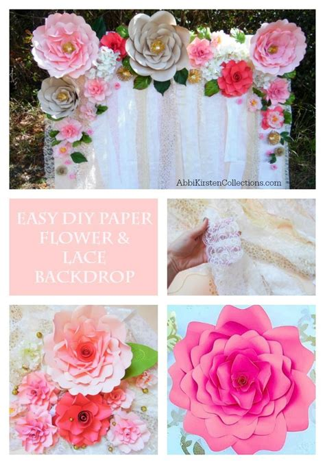 How To Make Large Paper Flowers For Wedding - best 25 paper flower backdrop ideas on paper
