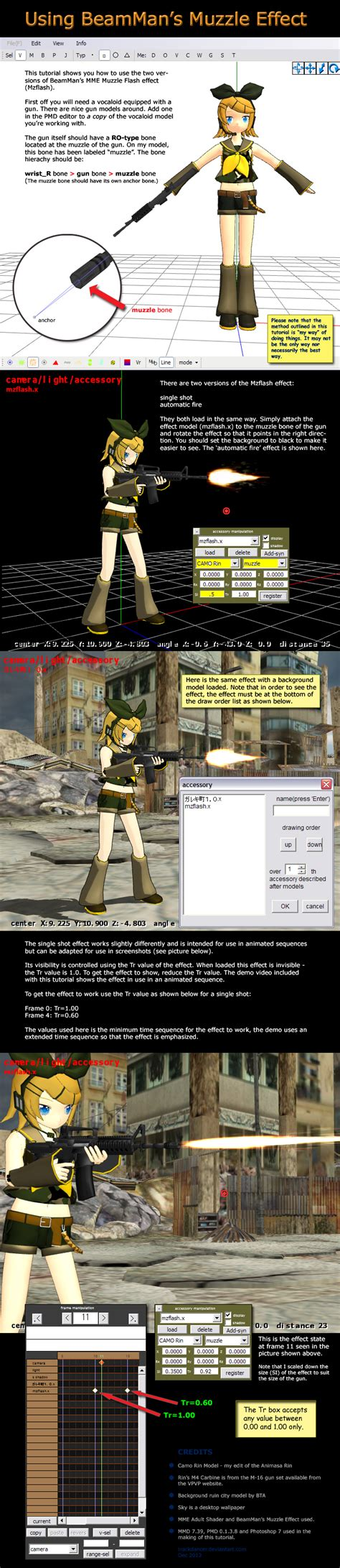 tutorial flash effect mmd tutorial beamman s muzzle flash by trackdancer on