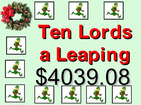 ten lords a leaping gifts the twelve days of