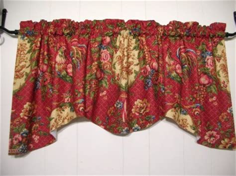 red rooster curtains waverly saison de printempts red rooster toile valances